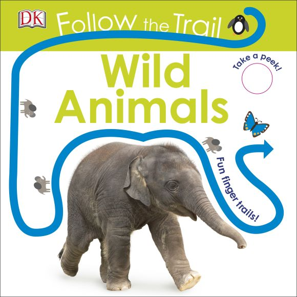 Board book cover of Follow the Trail Wild Animals