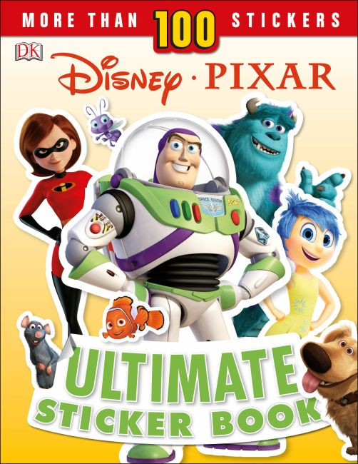 Paperback cover of Disney Pixar Ultimate Sticker Book New Edition