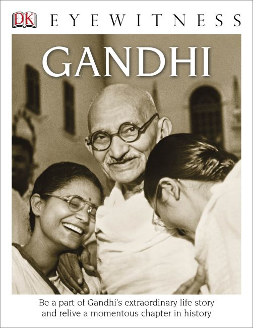 Hardback cover of DK Eyewitness Books: Gandhi