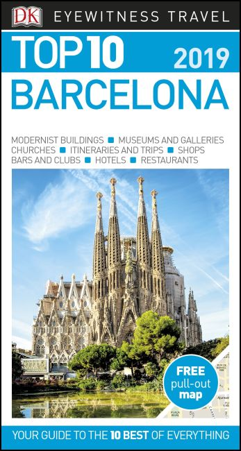Paperback cover of DK Eyewitness Top 10 Barcelona