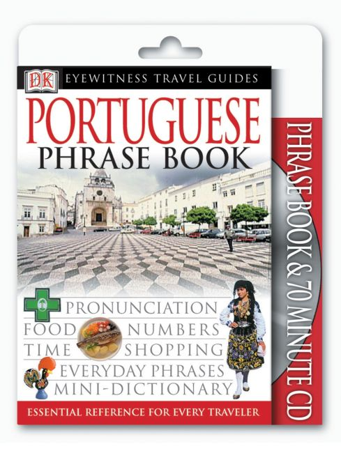 Paperback cover of Eyewitness Travel Guides: Portuguese Phrase Book & CD