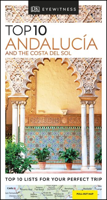 Paperback cover of DK Eyewitness Top 10 Andalucía and the Costa del Sol