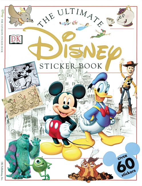 Paperback cover of Ultimate Sticker Book: Disney
