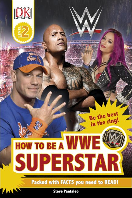 Hardback cover of DK Readers L2: How to be a WWE Superstar