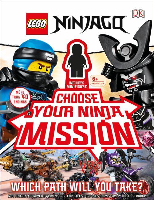 Hardback cover of LEGO NINJAGO Choose Your Ninja Mission