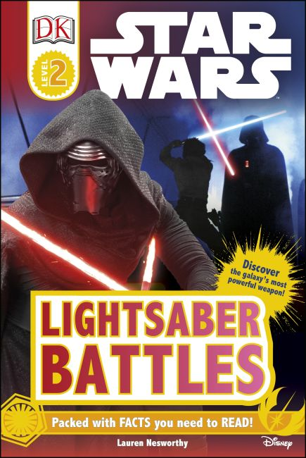Hardback cover of DK Readers L2: Star Wars™: Lightsaber Battles