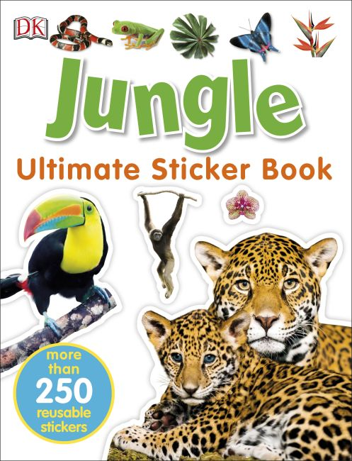 Paperback cover of Jungle Ultimate Sticker Book