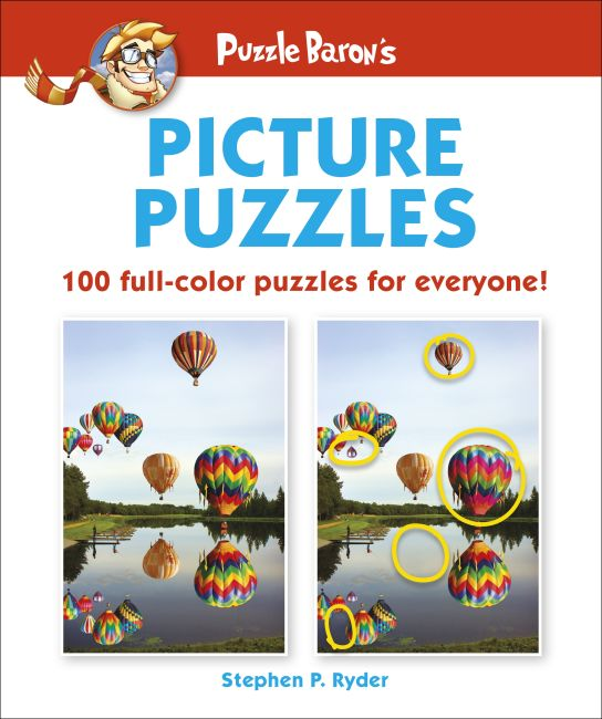 Paperback cover of Puzzle Baron's Picture Puzzles