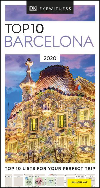Paperback cover of DK Eyewitness Top 10 Barcelona
