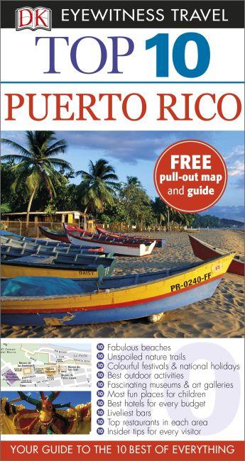 Paperback cover of DK Eyewitness Top 10 Puerto Rico