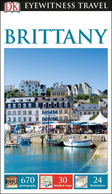 Flexibound cover of DK Eyewitness Travel Guide Brittany
