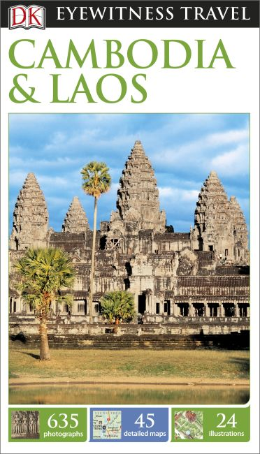 Flexibound cover of DK Eyewitness Travel Guide Cambodia and Laos