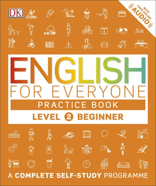 Paperback cover of English for Everyone Practice Book Level 2 Beginner
