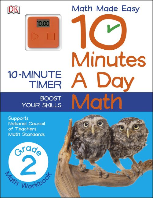 Paperback cover of 10 Minutes a Day: Math, Second Grade