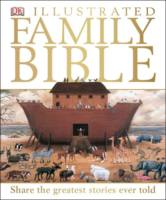 Hardback cover of DK Illustrated Family Bible