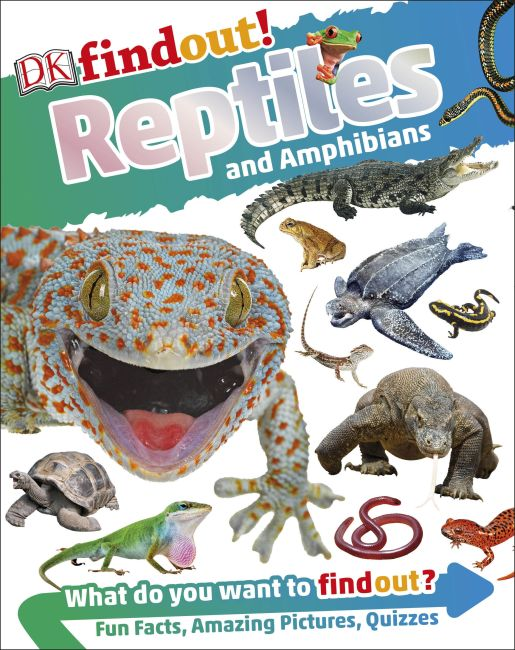Paperback cover of DKfindout! Reptiles and Amphibians
