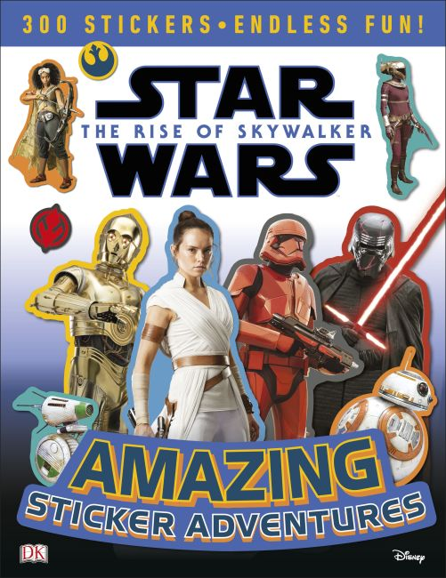 Paperback cover of Star Wars The Rise of Skywalker Amazing Sticker Adventures