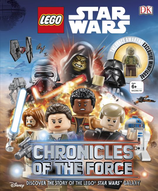 Hardback cover of LEGO Star Wars: Chronicles of the Force
