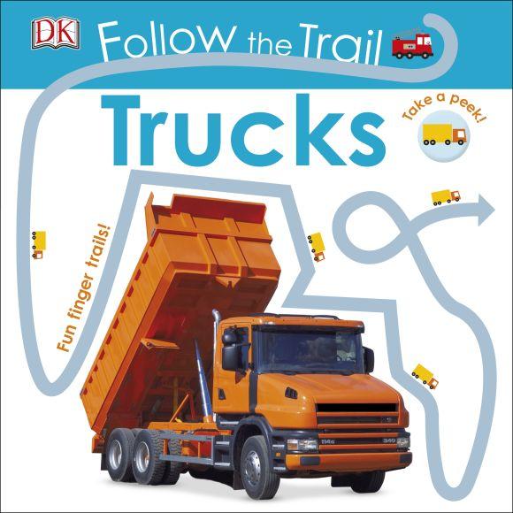 Board book cover of Follow the Trail: Trucks