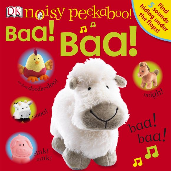 Board book cover of Noisy Peekaboo! Baa! Baa!