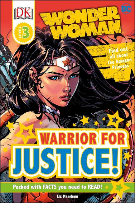 Hardback cover of DK Readers L3: DC Comics Wonder Woman: Warrior for Justice!