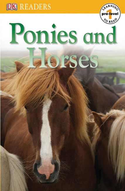 Paperback cover of DK Readers L0: Ponies and Horses