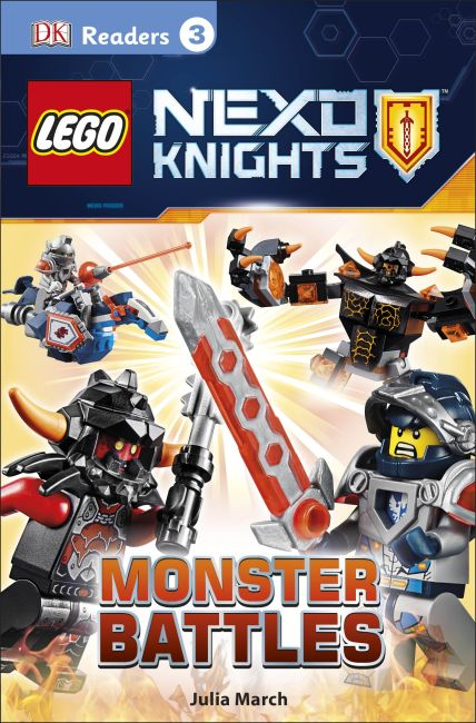 Paperback cover of DK Readers L3: LEGO NEXO KNIGHTS: Monster Battles