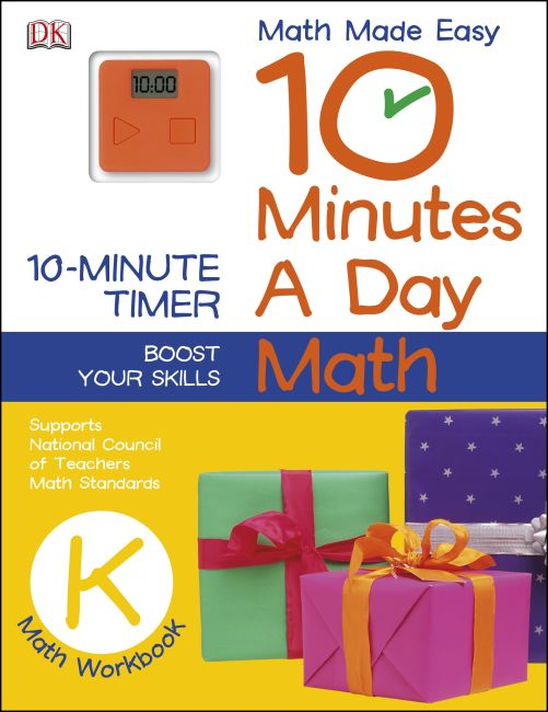 Paperback cover of 10 Minutes a Day: Math, Kindergarten