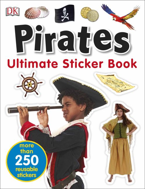 Paperback cover of Ultimate Sticker Book Pirates