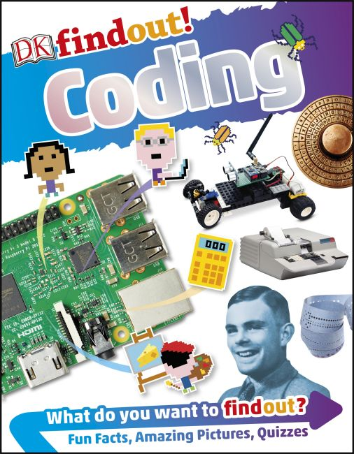 Paperback cover of DKfindout! Coding