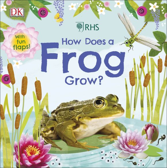 Board book cover of RHS How Does a Frog Grow?