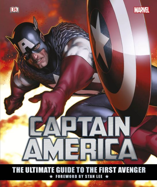 Hardback cover of Marvel's Captain America: The Ultimate Guide to the First Avenger