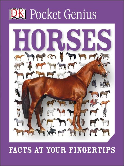 Paperback cover of Pocket Genius: Horses