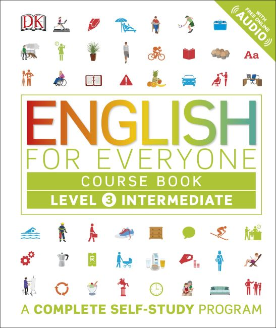 Hardback cover of English for Everyone: Level 3: Intermediate, Course Book