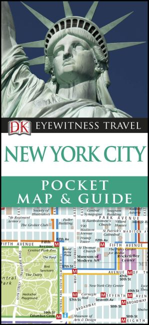Paperback cover of DK Eyewitness New York City Pocket Map and Guide