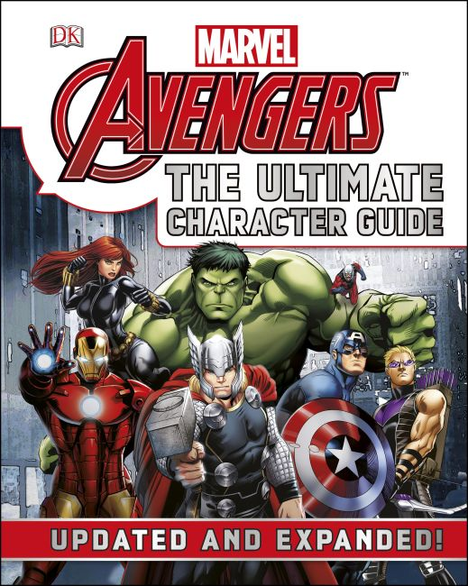 Hardback cover of Marvel The Avengers The Ultimate Character Guide