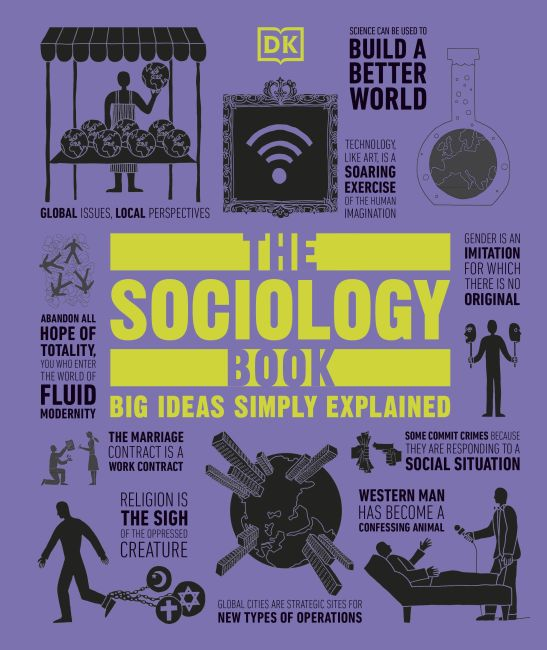Hardback cover of The Sociology Book