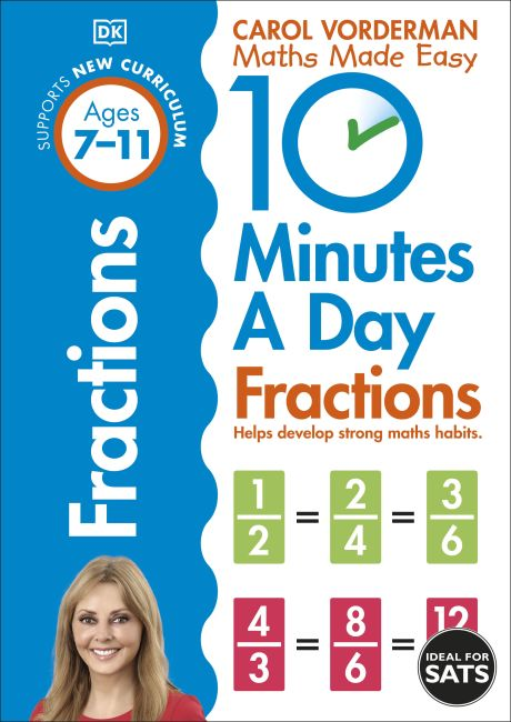 Paperback cover of 10 Minutes a Day Fractions