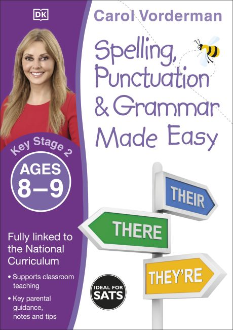 Paperback cover of Spelling, Punctuation & Grammar Made Easy, Ages 8-9 (Key Stage 2)