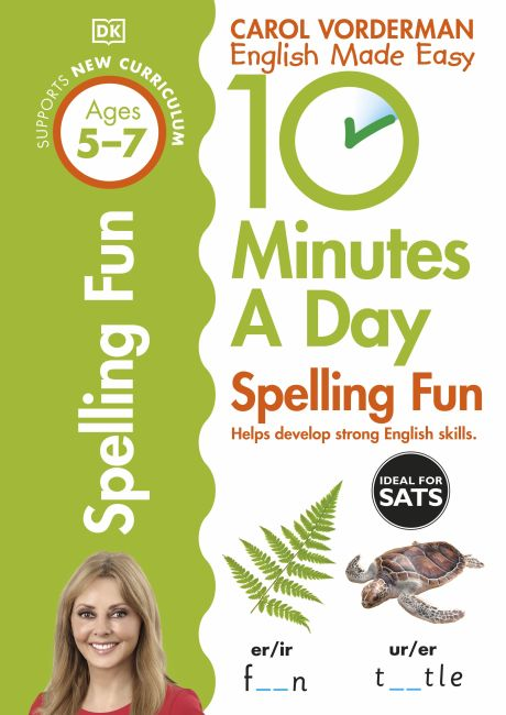 Paperback cover of 10 Minutes A Day Spelling Fun, Ages 5-7 (Key Stage 1)