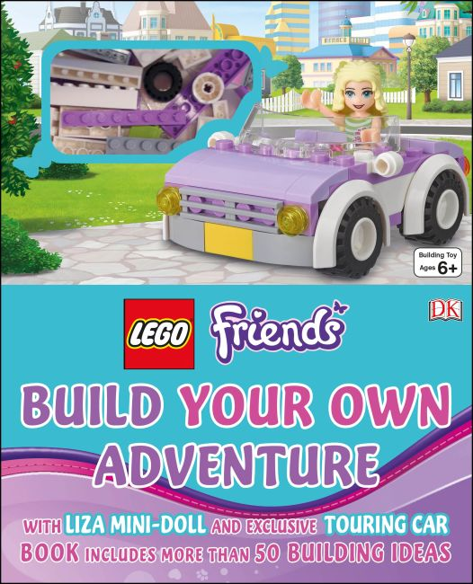 Hardback cover of LEGO® Friends Build Your Own Adventure