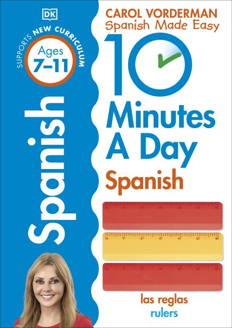 Paperback cover of 10 Minutes A Day Spanish, Ages 7-11 (Key Stage 2)