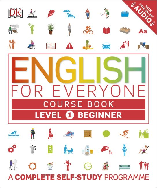 Flexibound cover of English for Everyone Course Book Level 1 Beginner