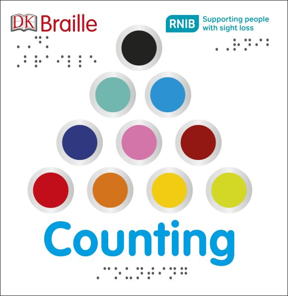Board book cover of DK Braille Counting