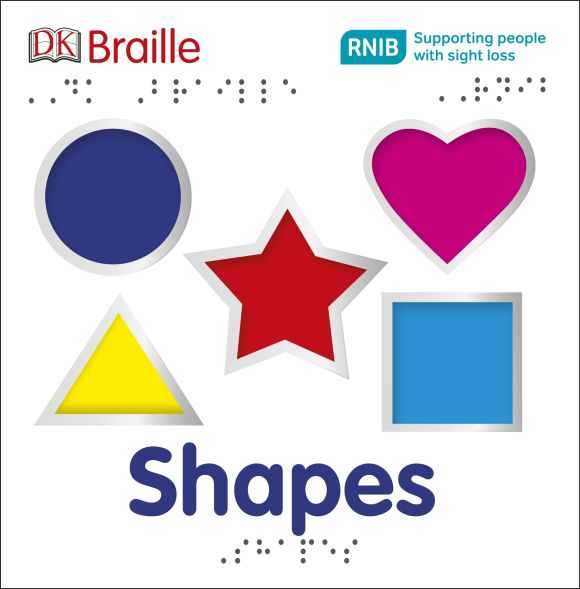 Board book cover of DK Braille Shapes