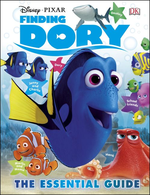 Hardback cover of Disney Pixar Finding Dory The Essential Guide