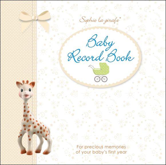 Hardback cover of Sophie la girafe Baby Record Book
