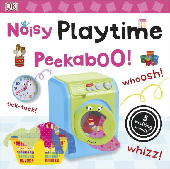 Board book cover of Noisy Playtime Peekaboo!