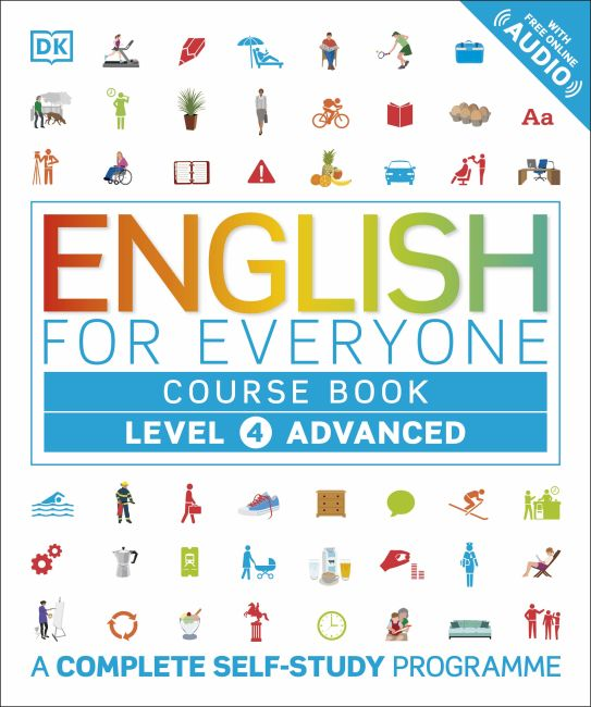 Flexibound cover of English for Everyone Course Book Level 4 Advanced