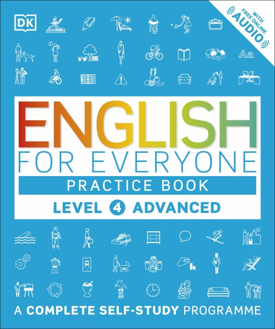Paperback cover of English for Everyone Practice Book Level 4 Advanced